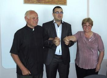 Msgr. Dobai István, Marko Rovčanin és Zsidai Erzsébet
